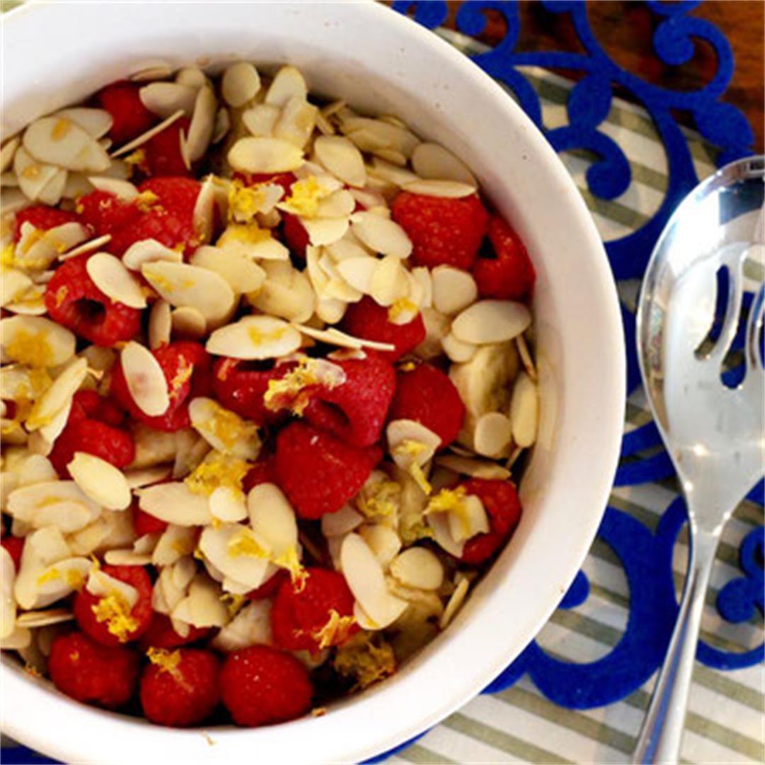 Almond Raspberry Banana Baked Rice