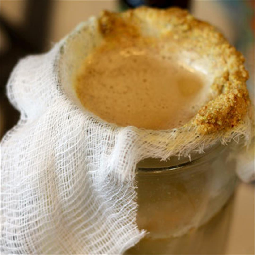 Homemade Pistachio Milk