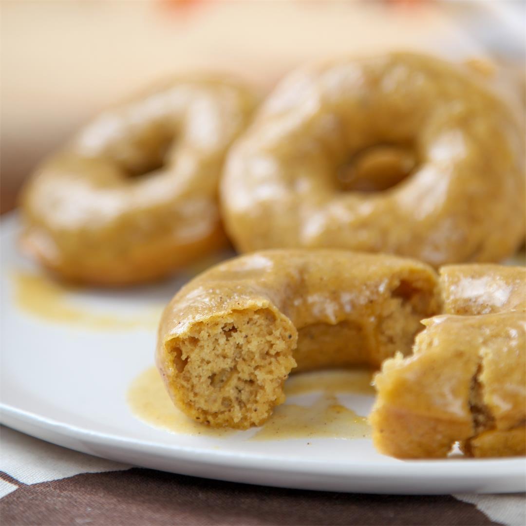 Pumpkin Glazed Donuts