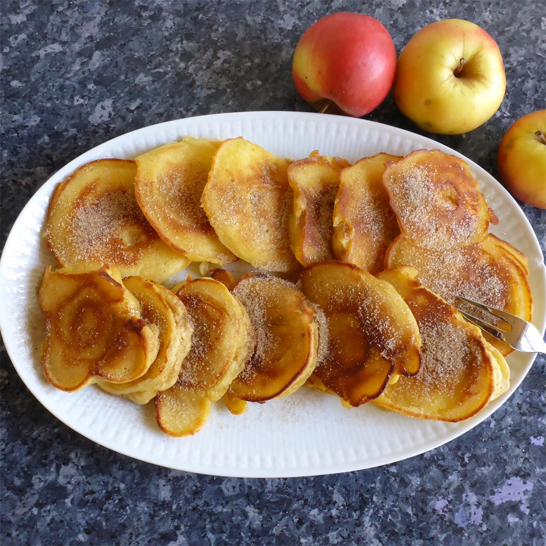 Absolutely foolproof fried battered apple rings recipe