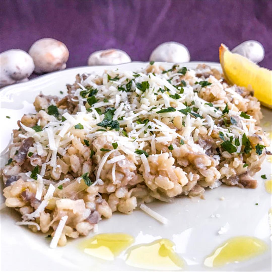 Creamy Truffled Mushroom Risotto