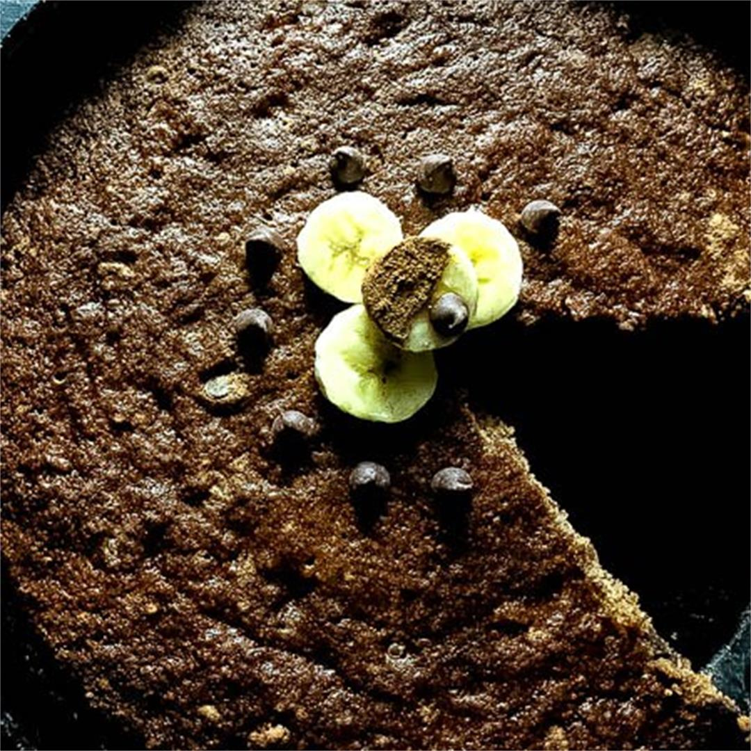 Grain Free Skillet Chocolate Chip Banana Bread