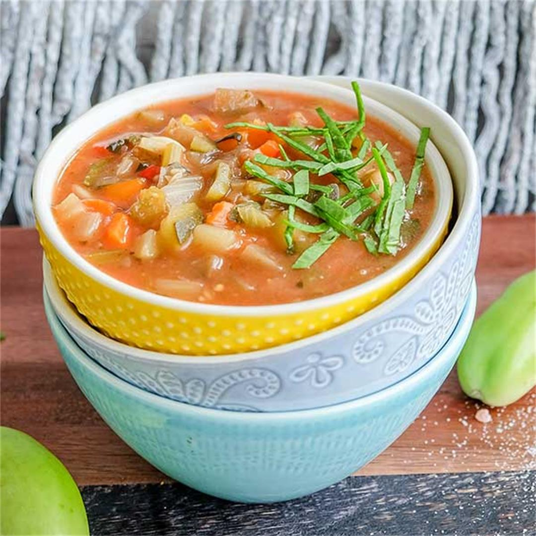 Vegan Tuscan Minestrone Soup (Gluten-Free)