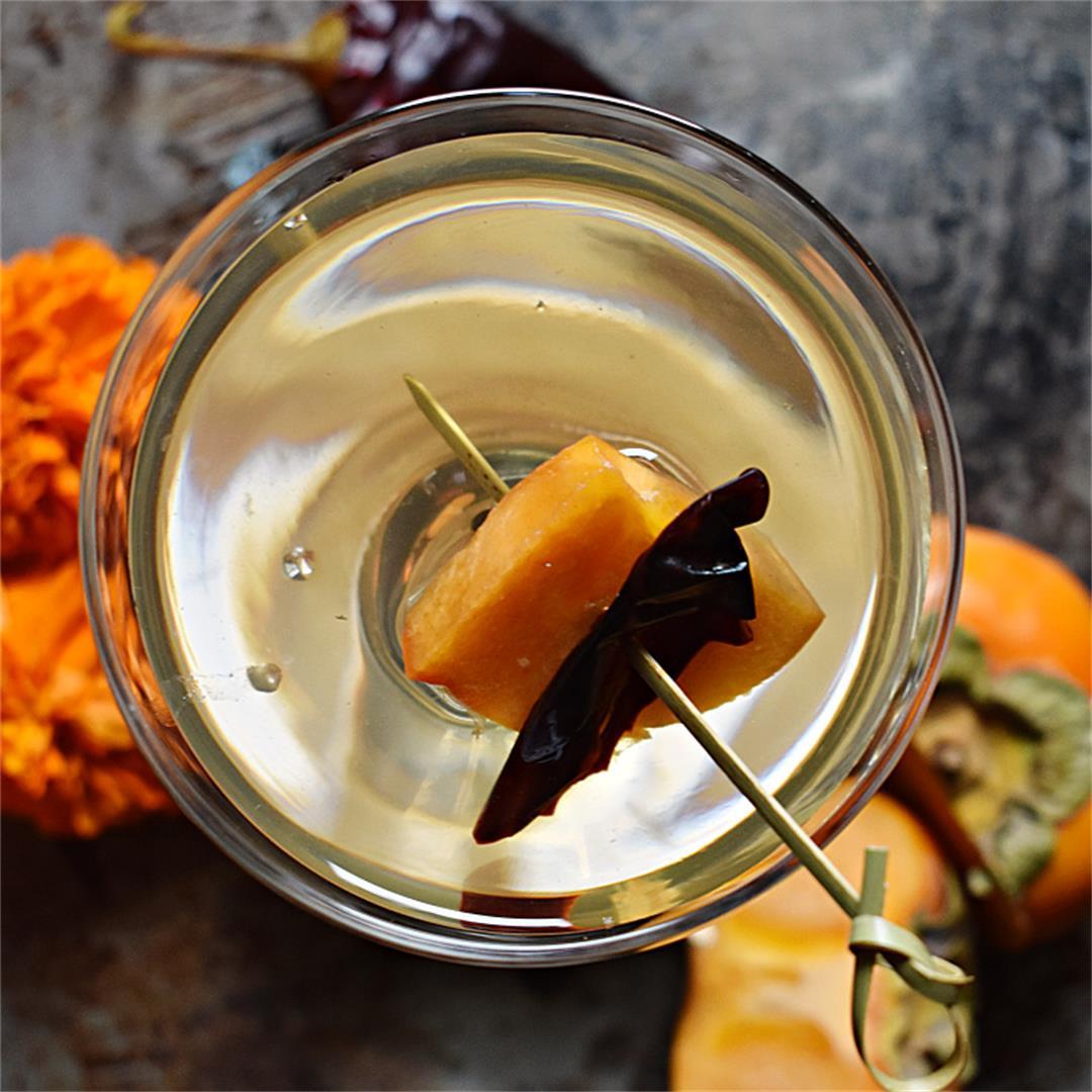 Pickled Persimmon Martini