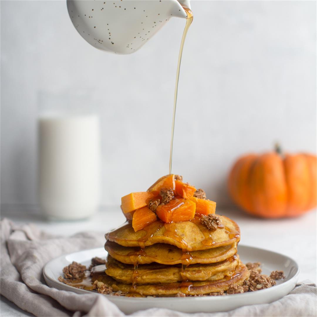 Butternut Squash Pumpkin Pancakes