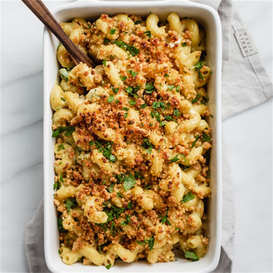 Vegan Jalepeno Popper Mac and Cheese