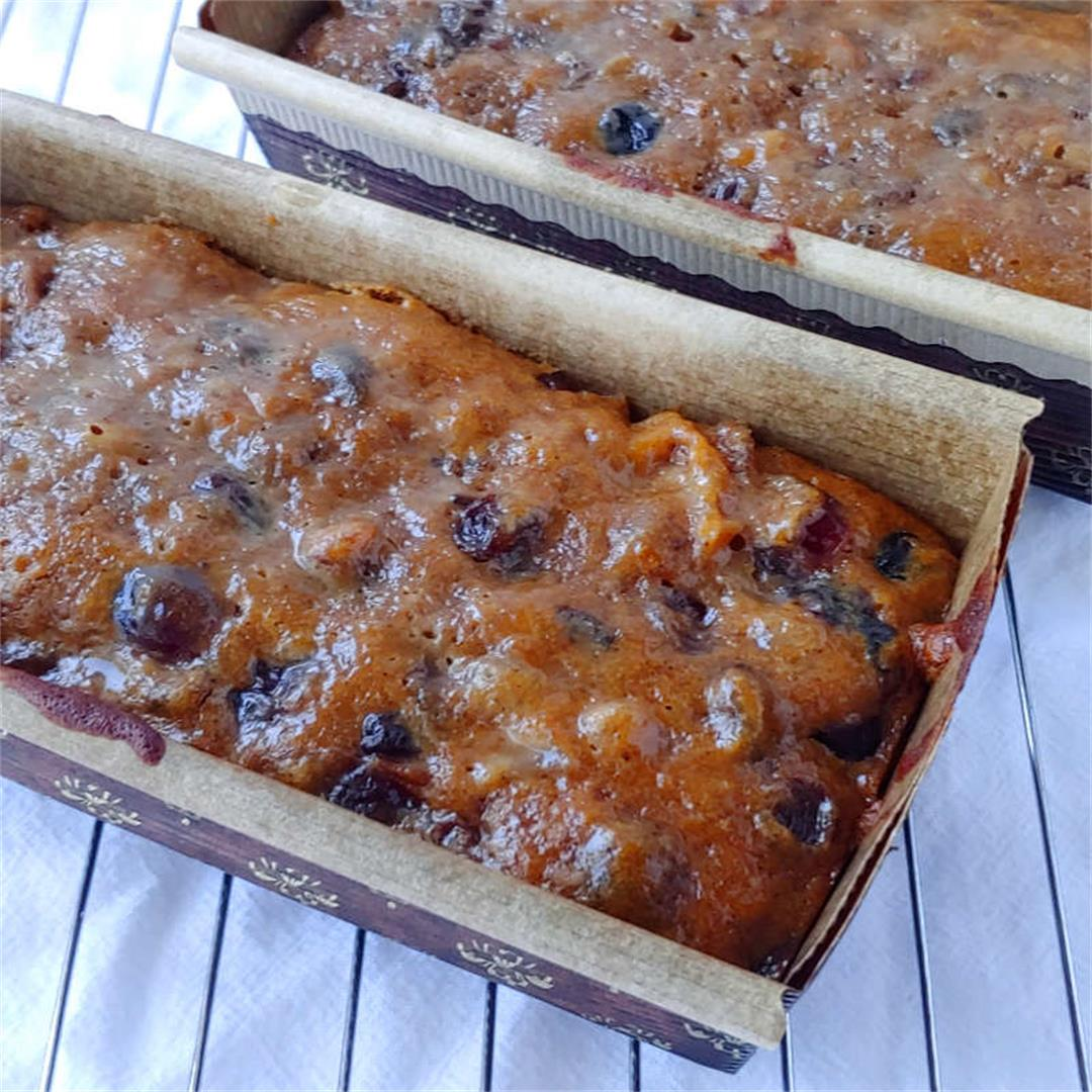 Homemade fruitcake is actually good! Real fruit, lightly spiced