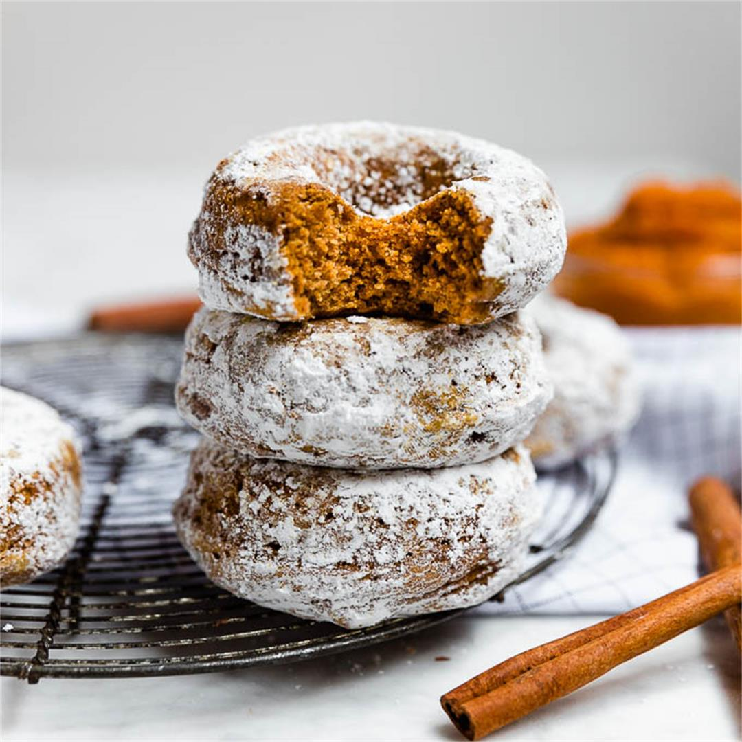 Baked Pumpkin Donuts - Gluten-Free and Vegan