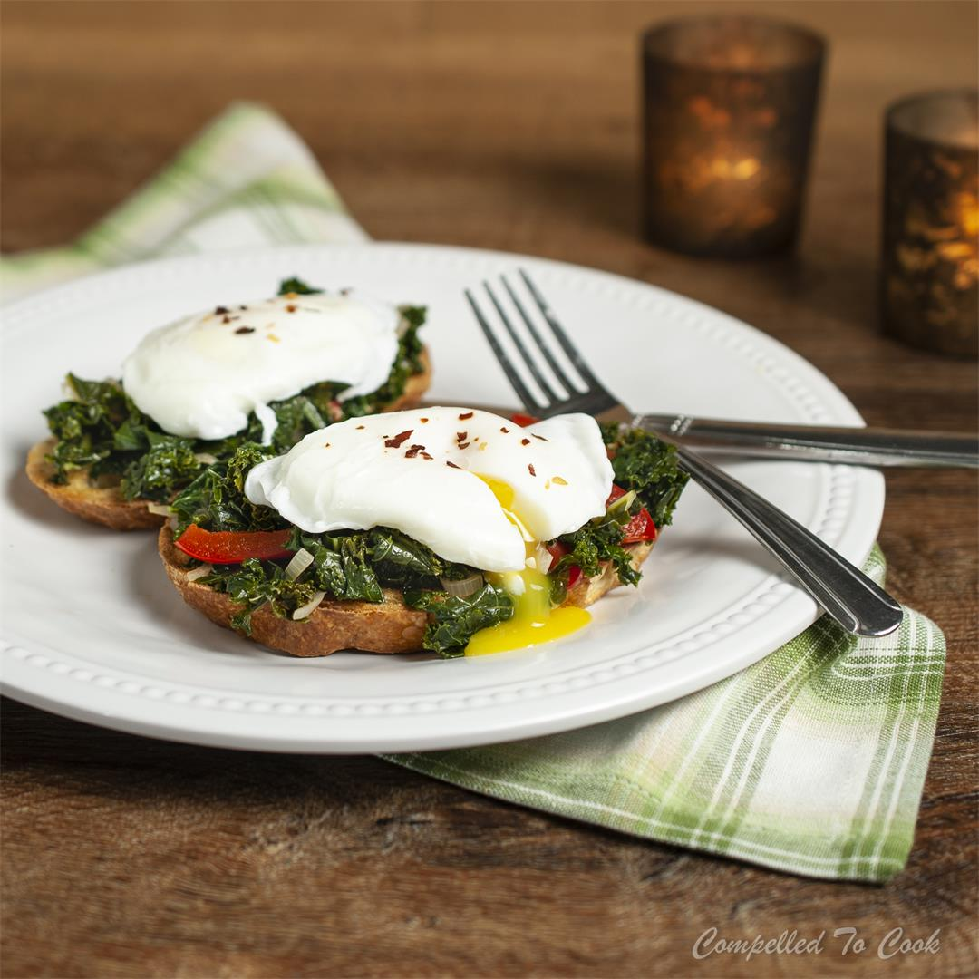 Poached Egg and Kale Toasts