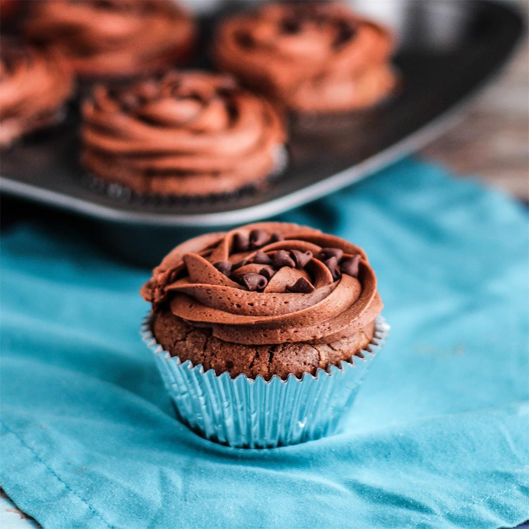 Double Chocolate Brownie Cupcakes