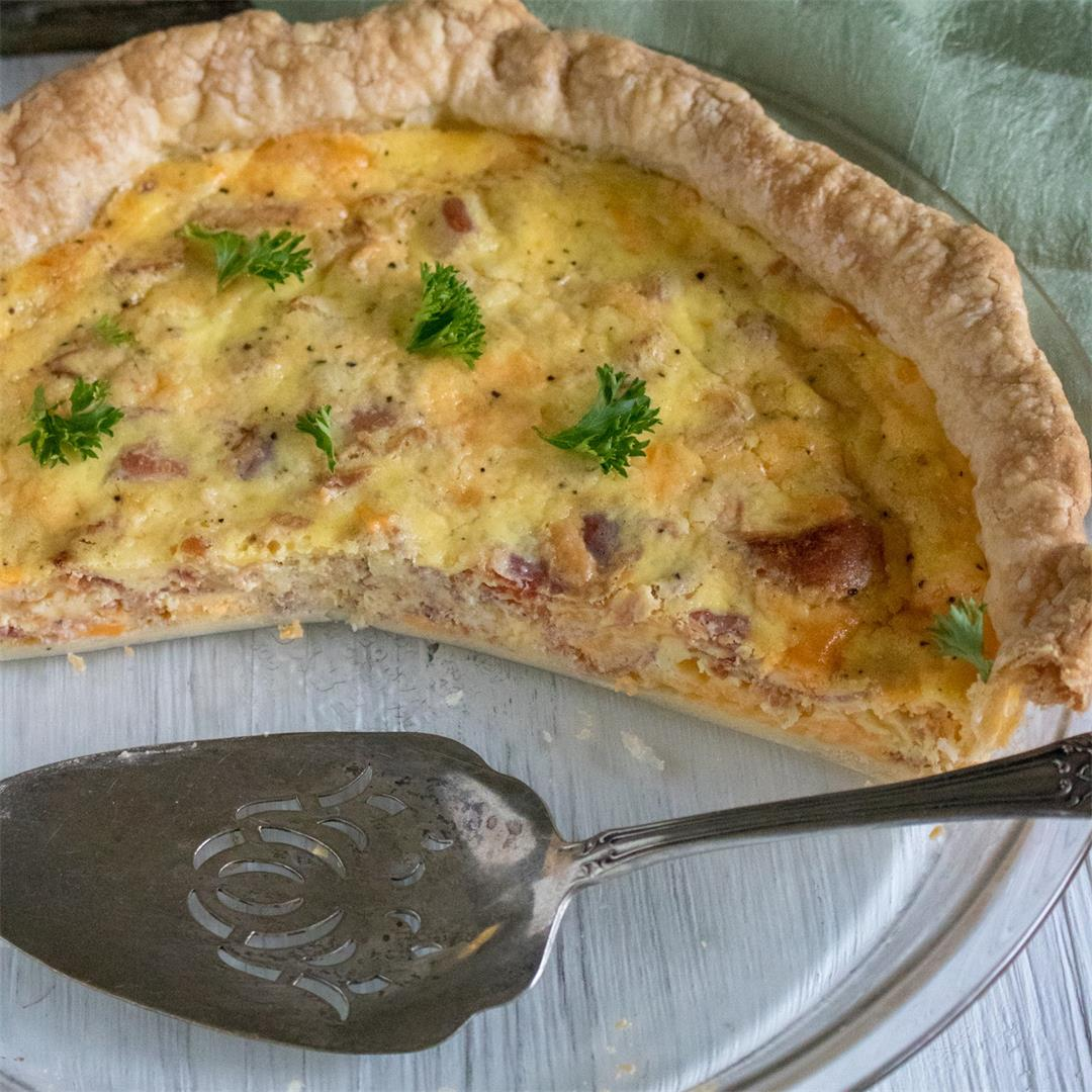 Bacon & Cheddar Quiche