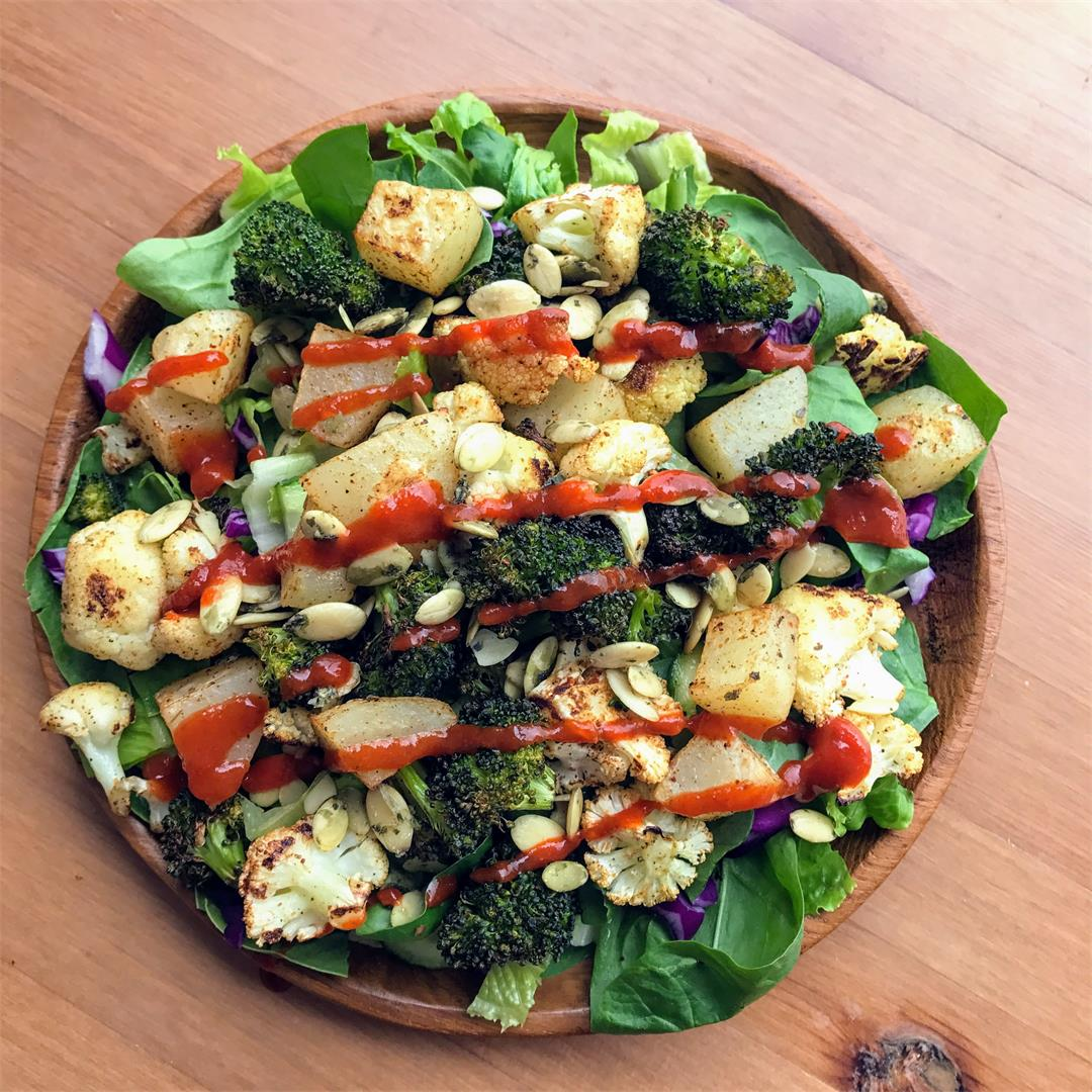 Roasted Cauliflower and Broccoli Salad