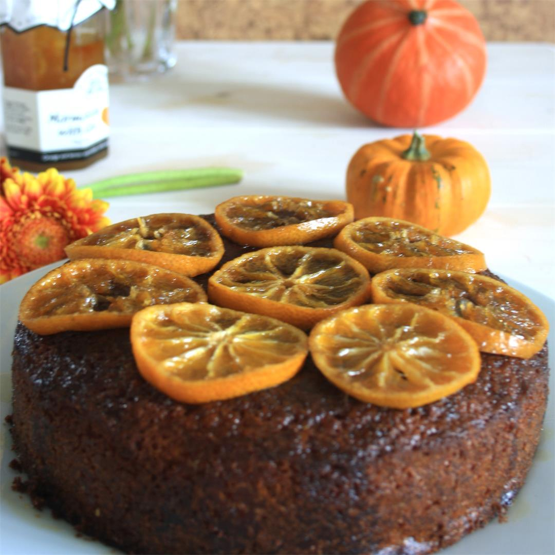 Orange Marmalade Drizzle Cake With Candied Oranges