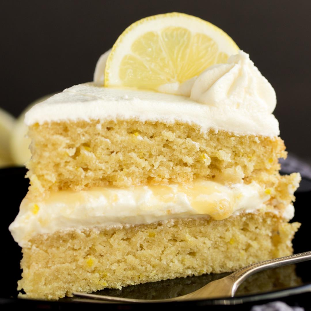 Best EVER Dairy Free / Vegan Lemon Cake