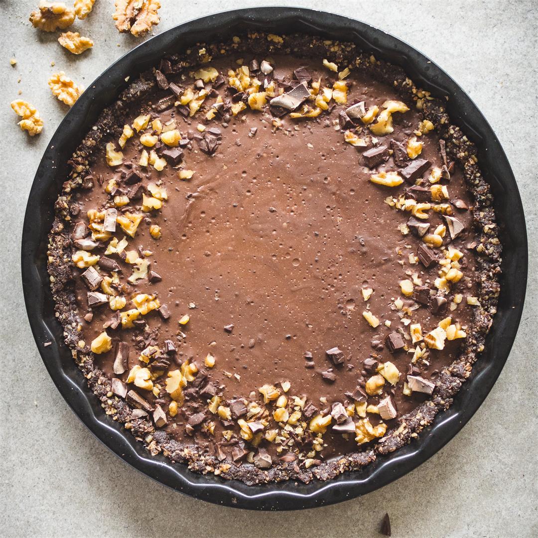 No bake cacao coconut tart