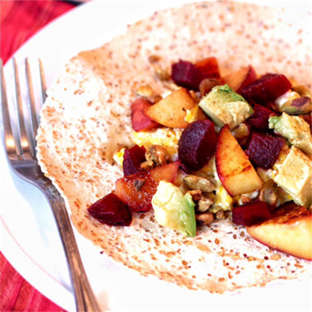 Fruit-Filled Breakfast Tacos with Pistachios