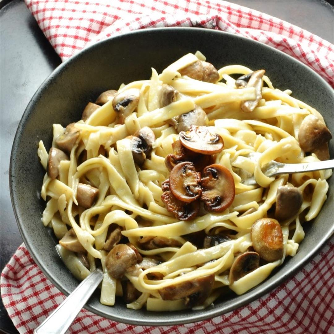 Easy Low Fat Mushroom Pasta Sauce