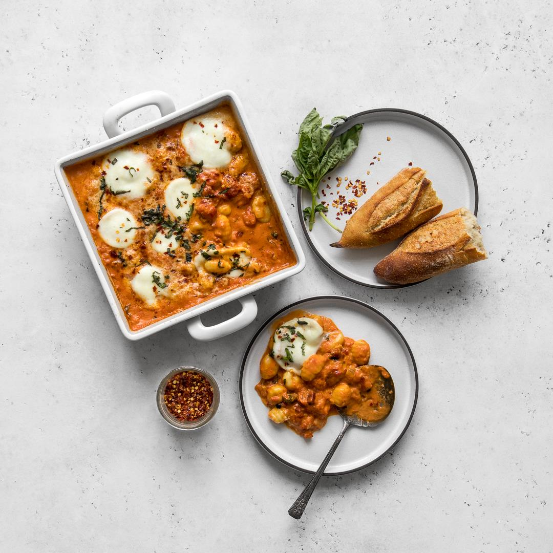 Baked Gnocchi with Vodka Sauce