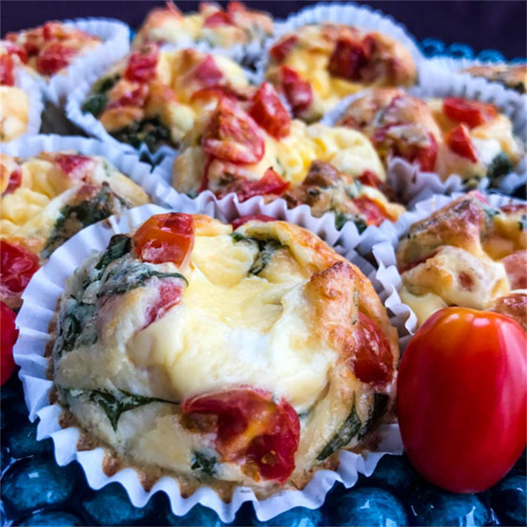 Healthy Vegetarian Italian Breakfast Egg Muffins