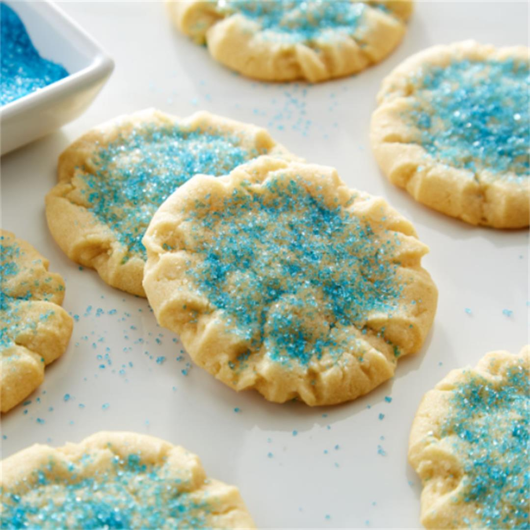 Soft and chewy sugar cookies.