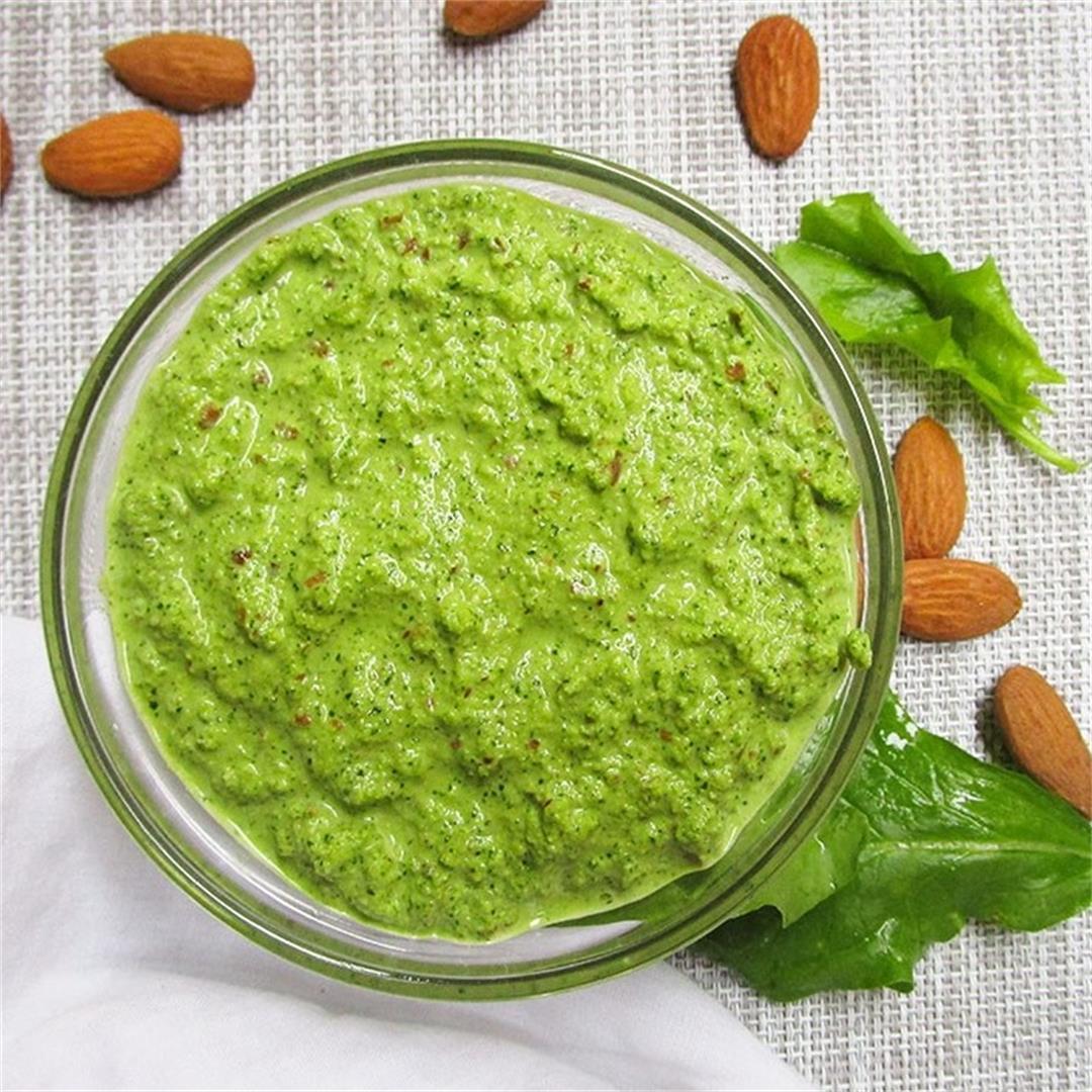 Vegan Almond Spinach Pesto