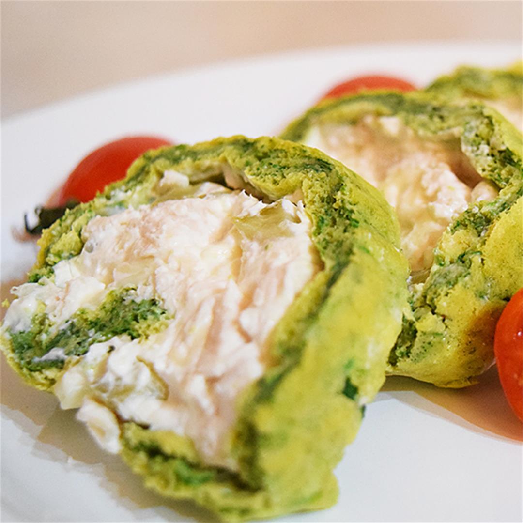 Chicken-Spinach Roll Ups
