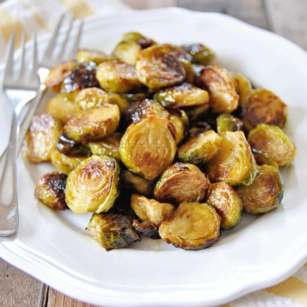 Roasted Brussels Sprouts with Sherry Vinaigrette