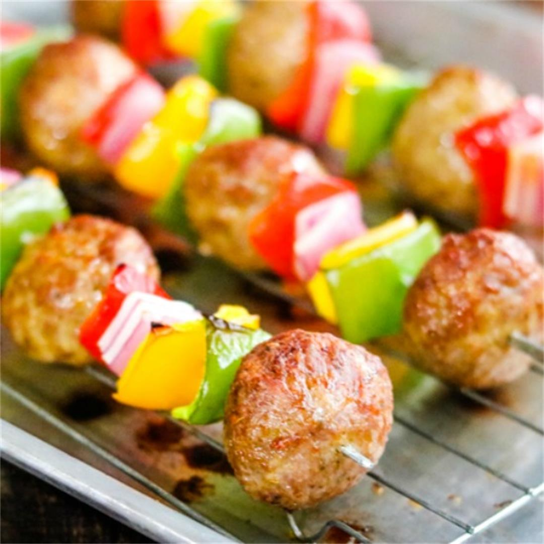 Italian Meatball Kabobs - an easy dinner!