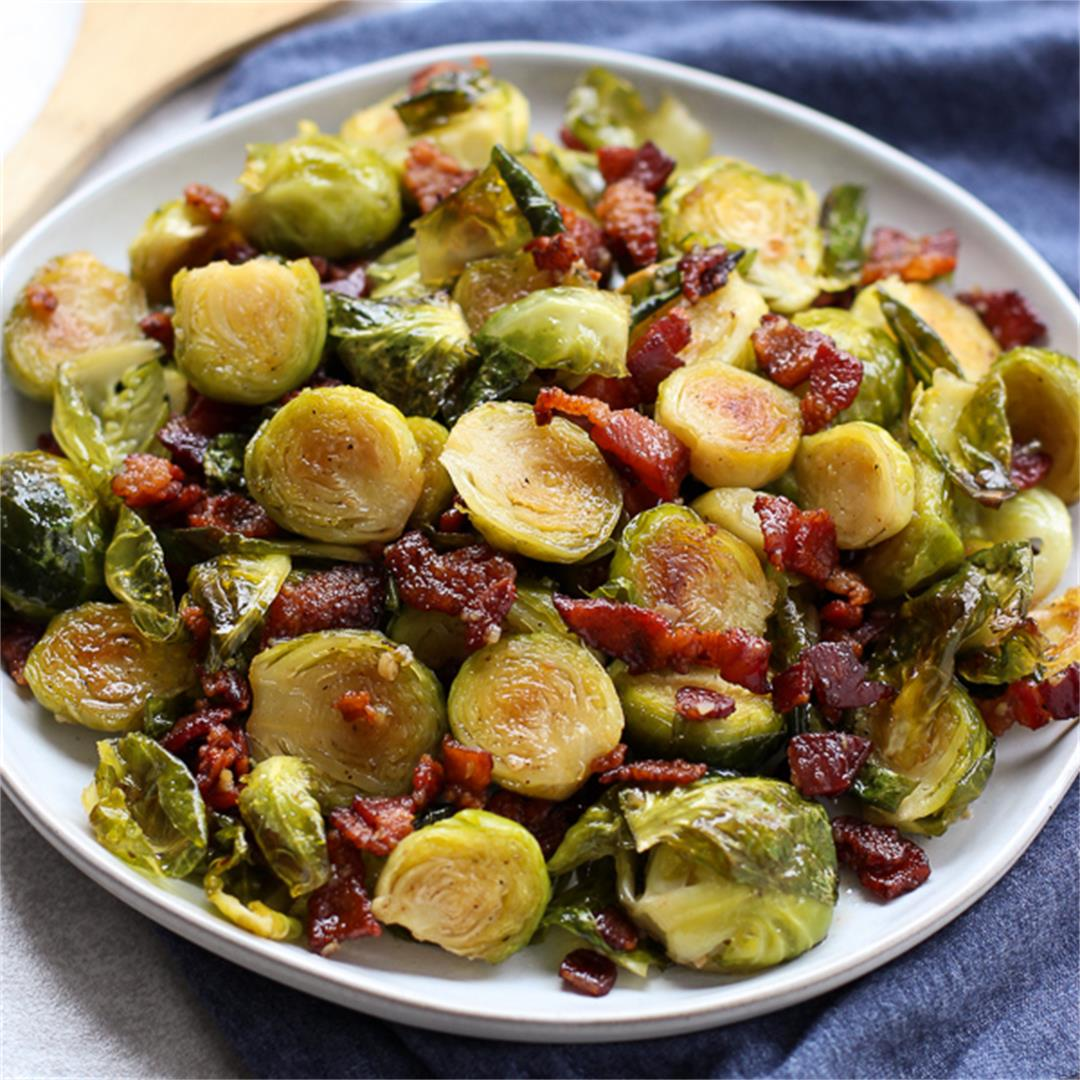 Honey Roasted Brussel Sprouts with Bacon