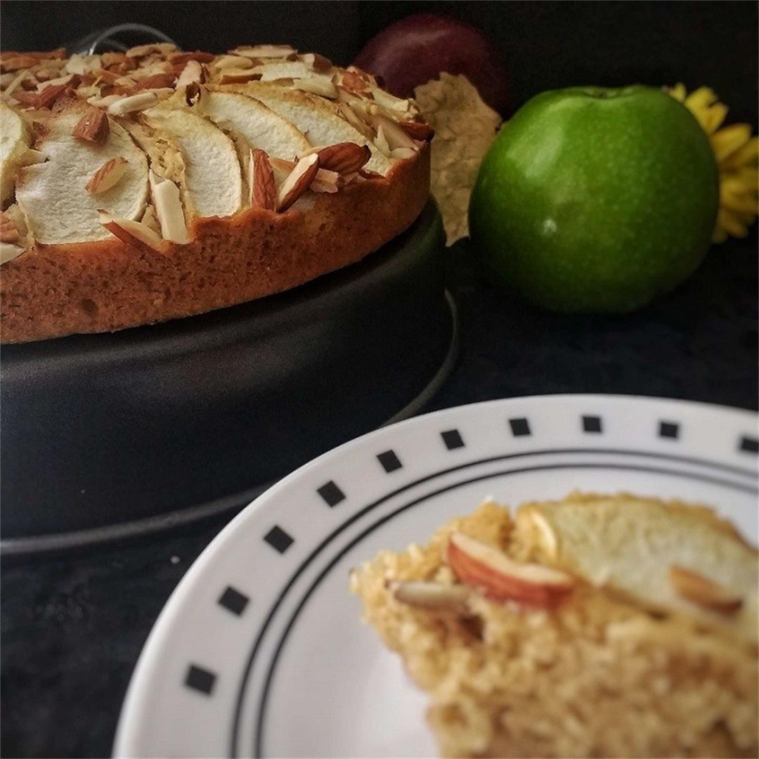 Whole Wheat Apple Almond Cake