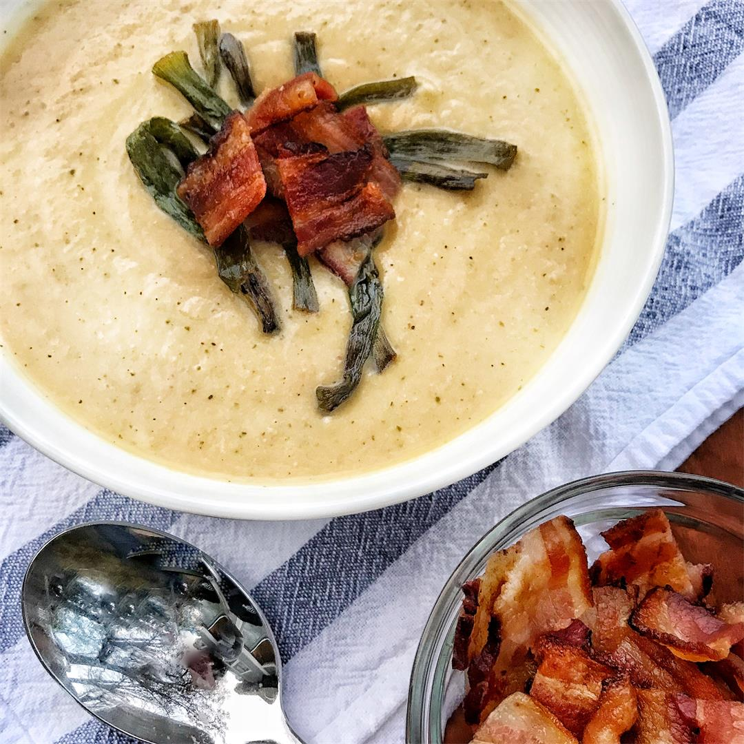 Creamy Cauliflower Soup with Bacon