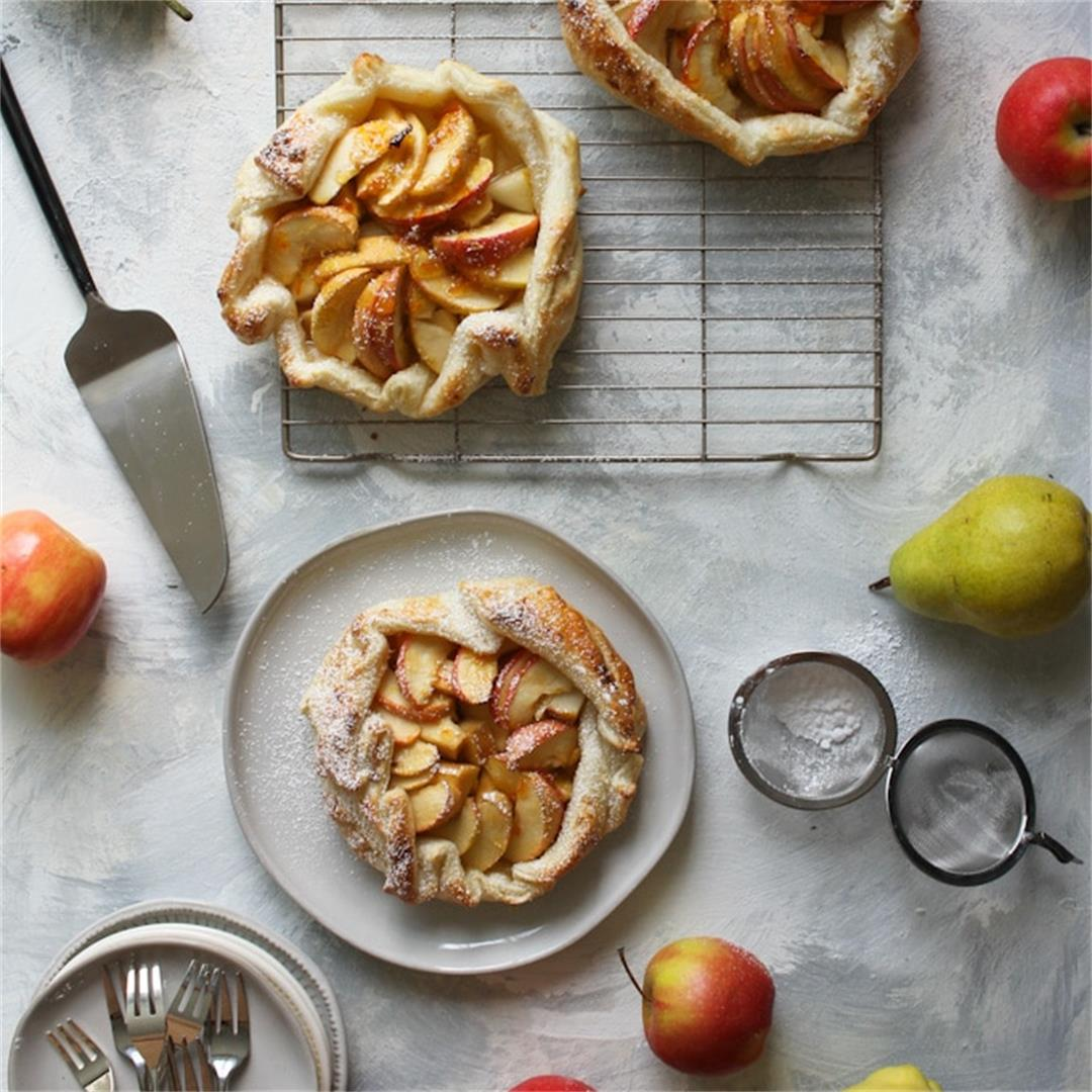 Apple Crostata (Galette) with Puff Pastry (Vegan!)