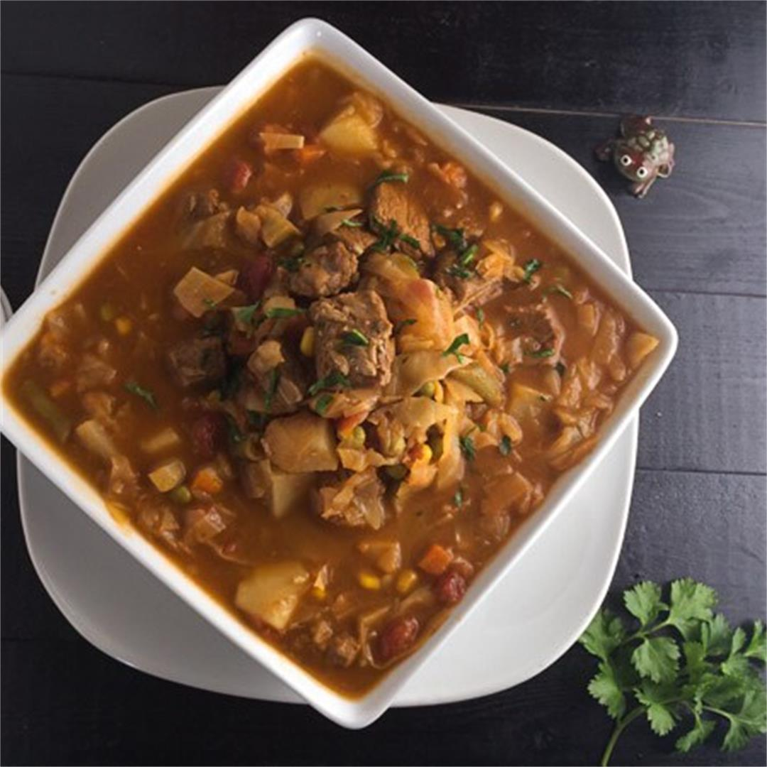 Gluten Free 'Momma' Vegetable Beef Soup