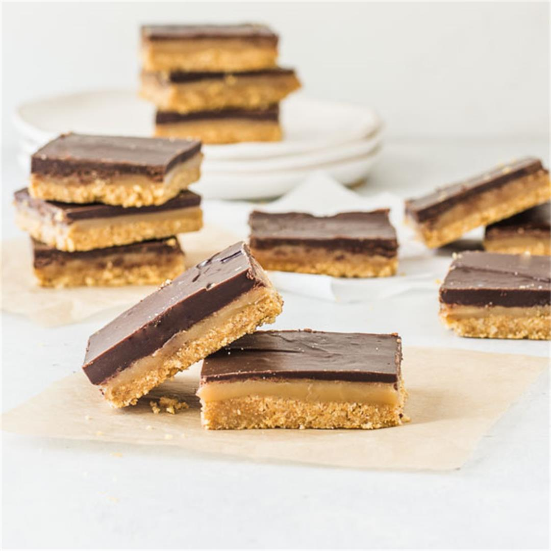 Easy Chocolate Caramel Bars