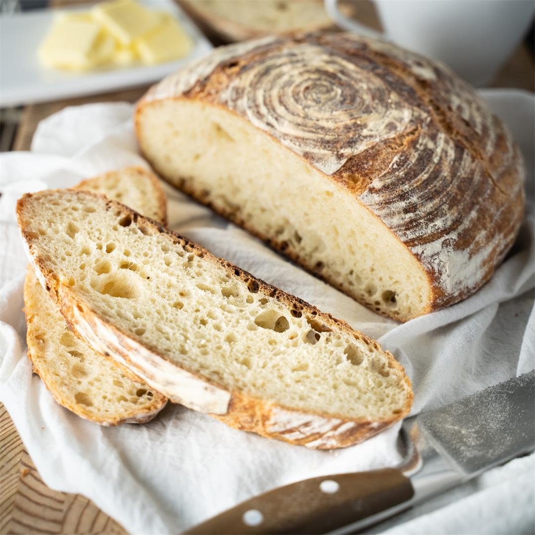 Artisan bread at home…. and no need to knead… Get where I was g