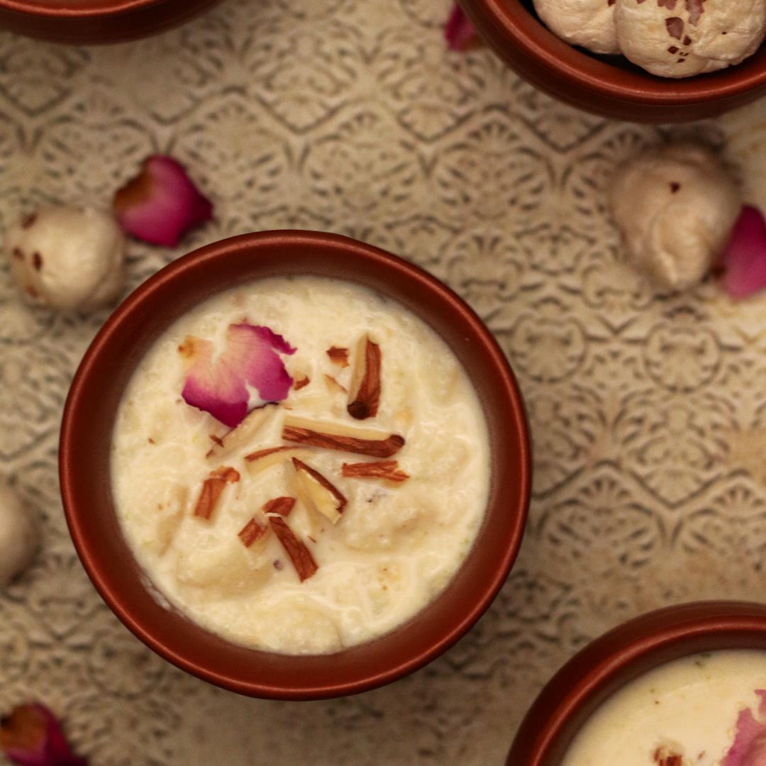 makhana kheer - light & delicious Indian dessert pudding