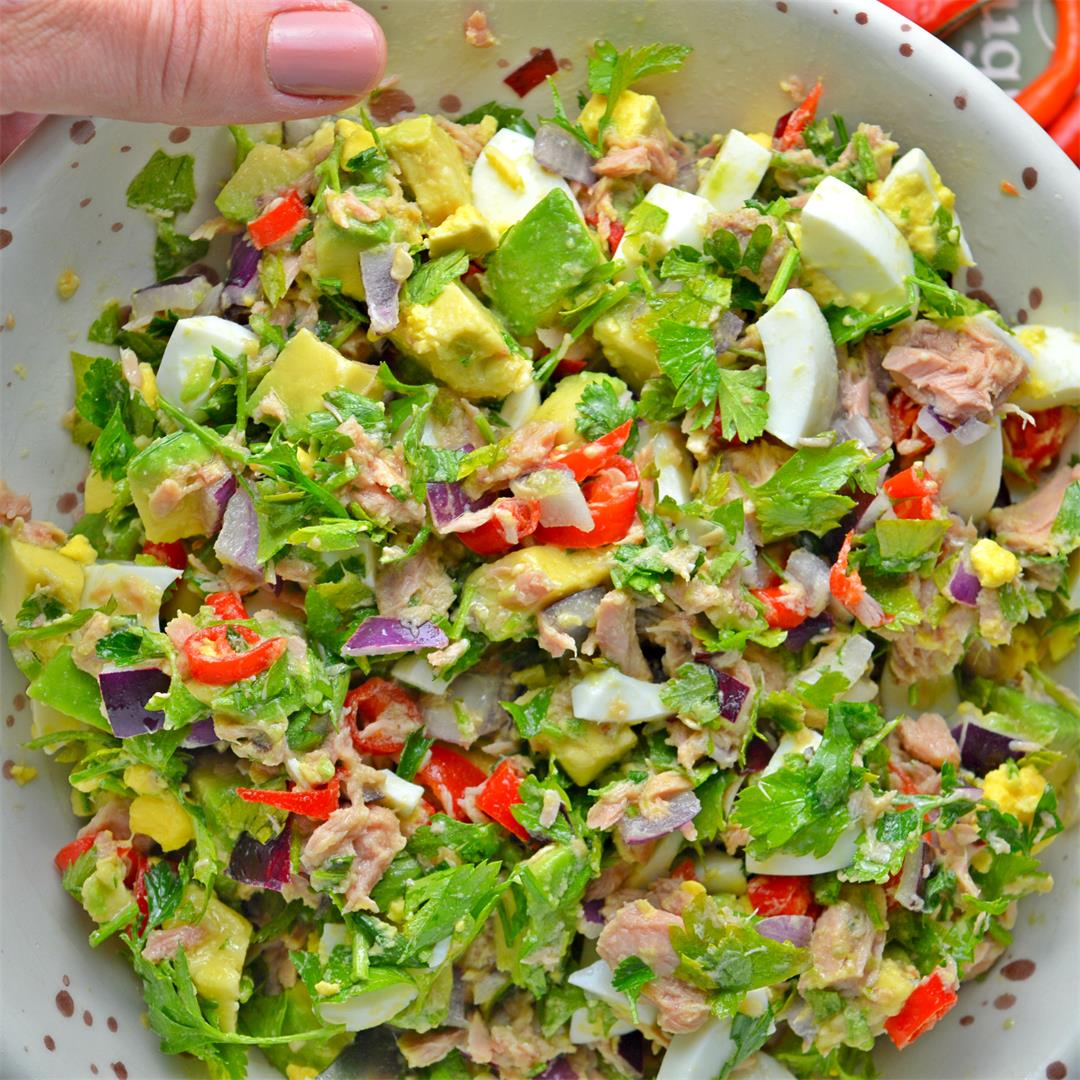 Spicy Tuna Avocado Salad
