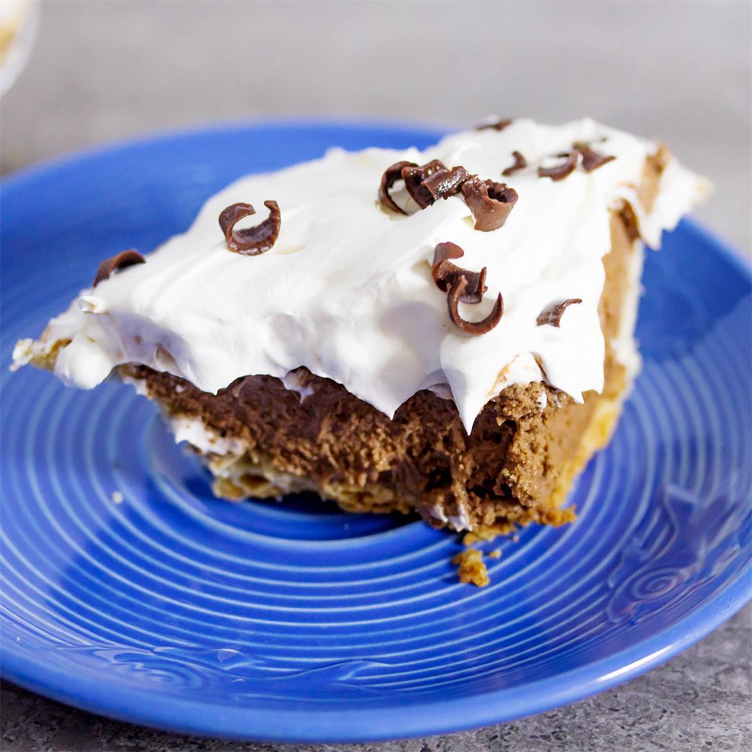 French Silk and Satin Chocolate Pie {Chocolate Lover's Pie}
