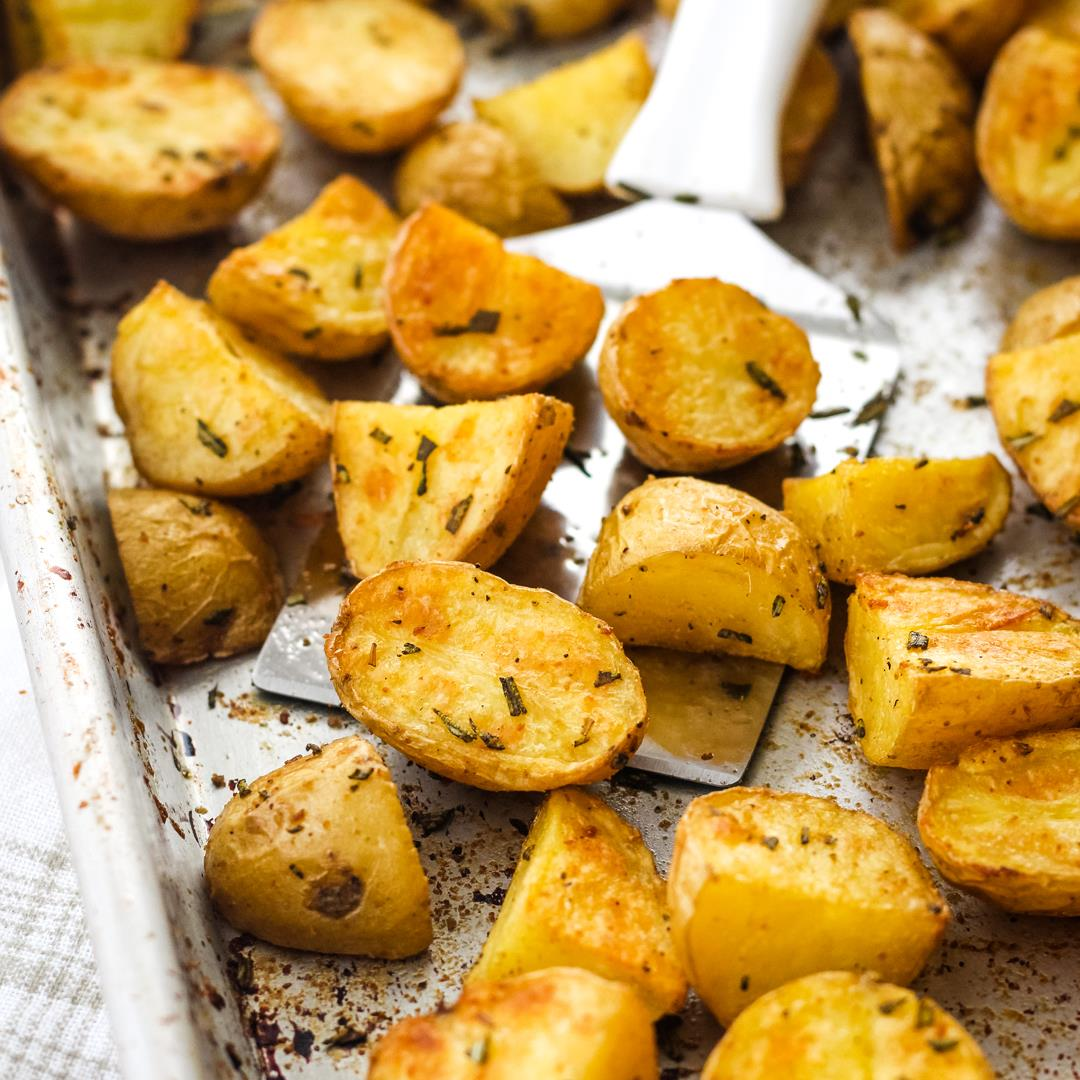 Toaster Oven Rosemary Potatoes