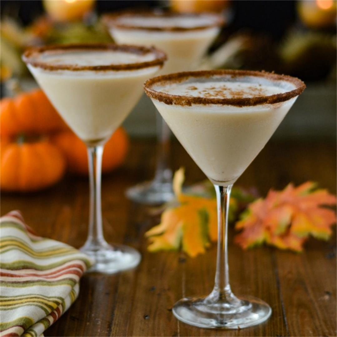 Pumpkin Spice Vodka Martini