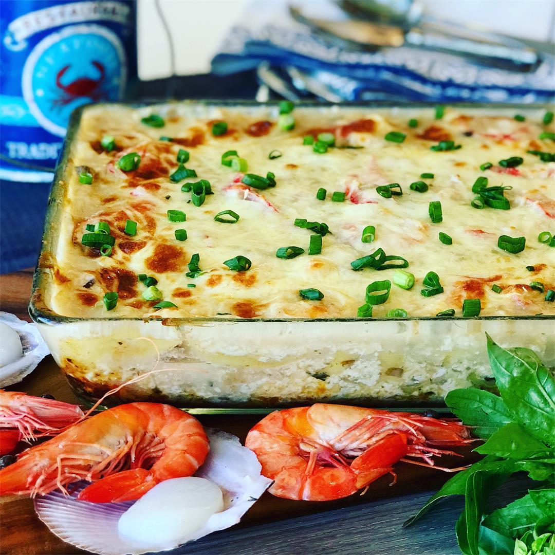 Creamy Seafood Lasagna