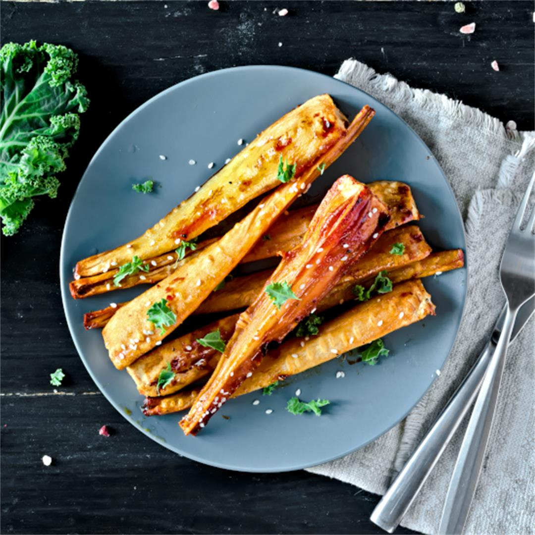 Honey Roasted Parsnips - Easy Vegetarian Side Dish Ideas