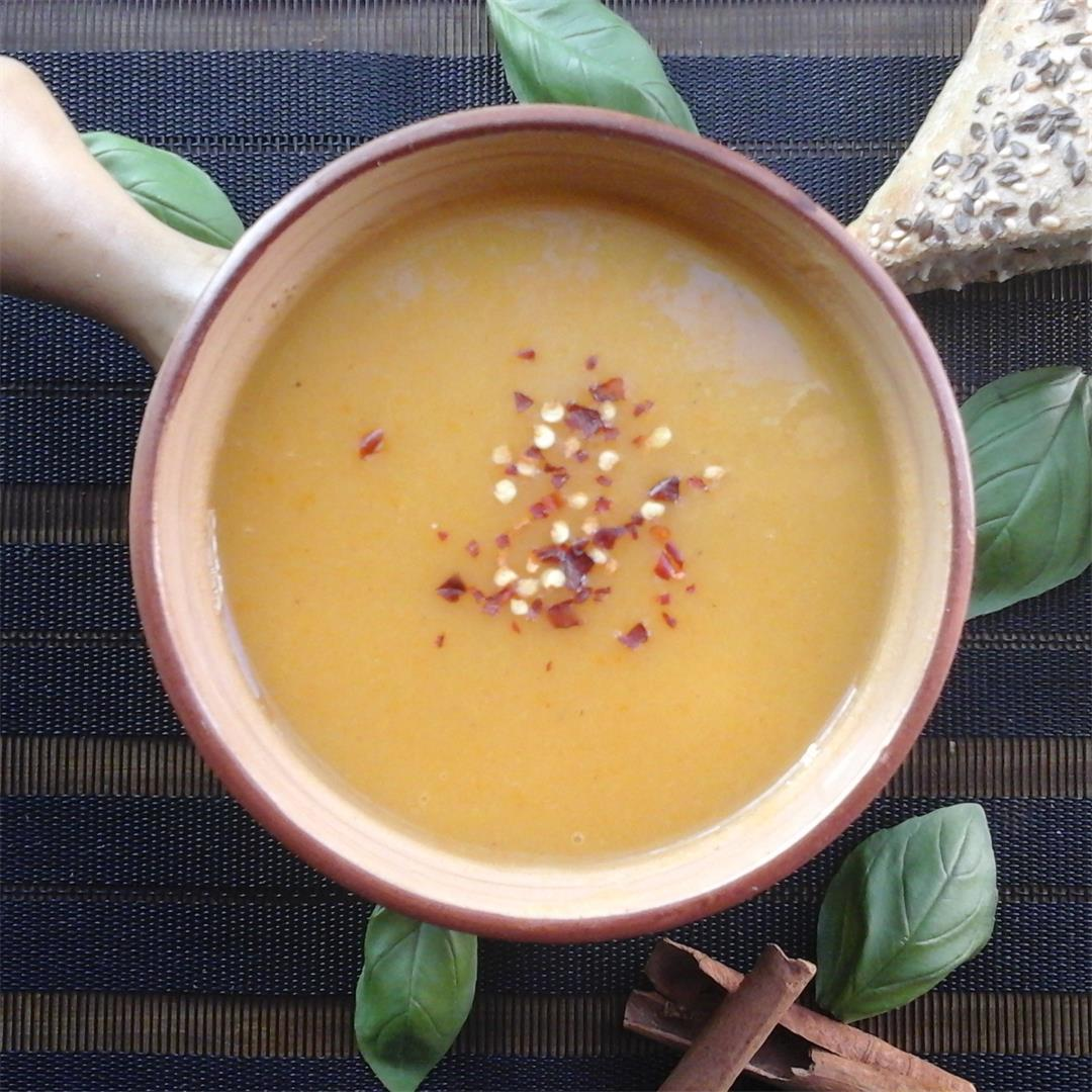A bowl of Sweet Potato Soup is good for those chilly nights