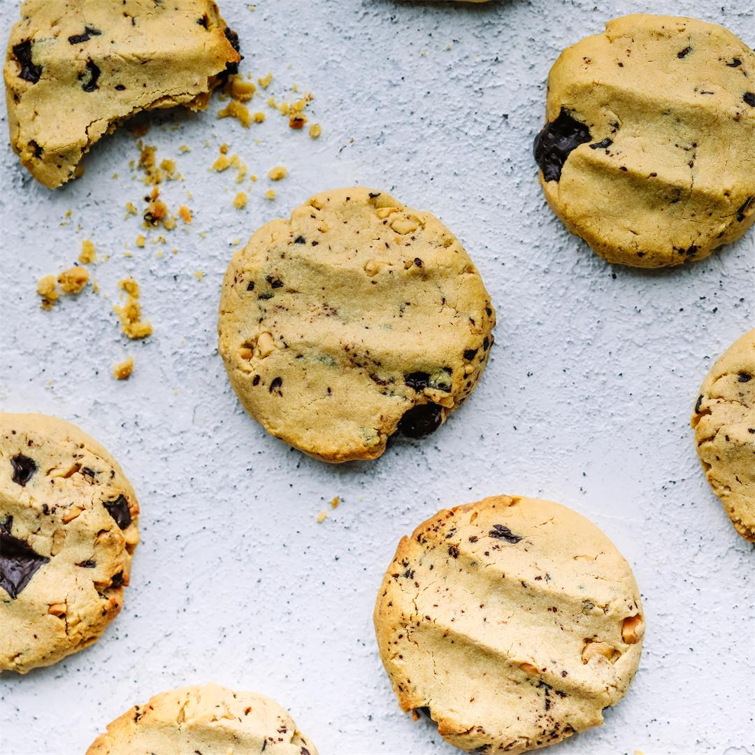Healthy Choc Chunk Peanut Butter Cookies