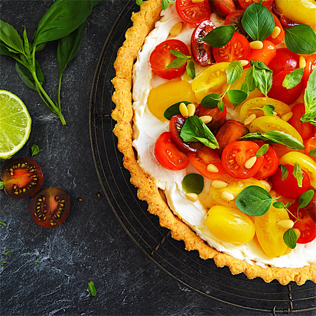 Tomato Parmesan Ricotta Tart