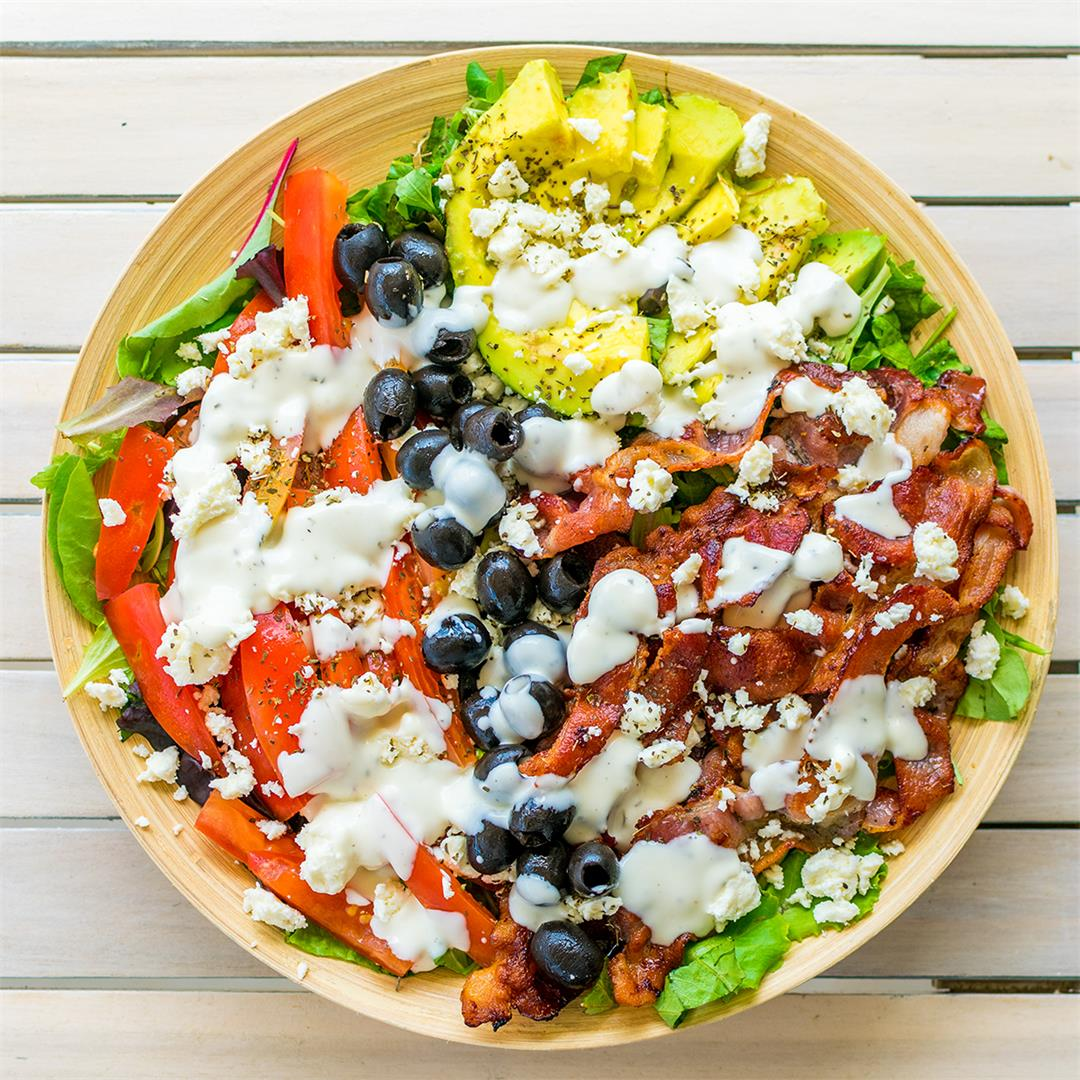 BLT Salad Recipe with Ranch Dressing