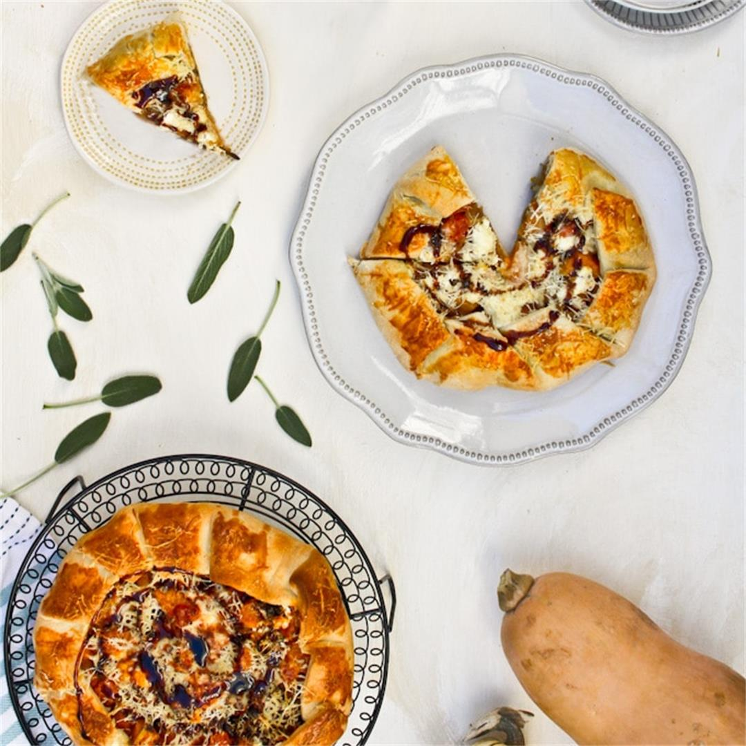 Butternut Squash Galette (Vegetarian, Easy Pie Alternative)