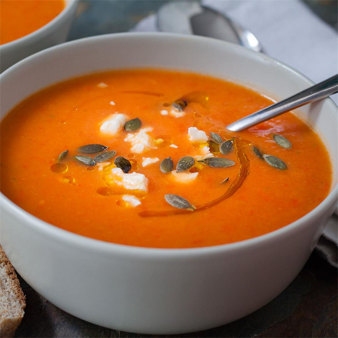 Roasted Squash and Pepper soup