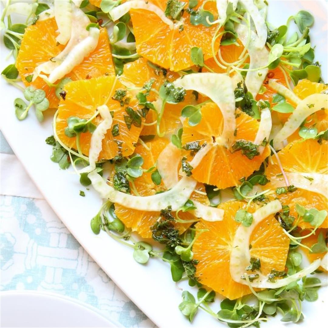 Orange Fennel Salad & Mint Vinaigrette