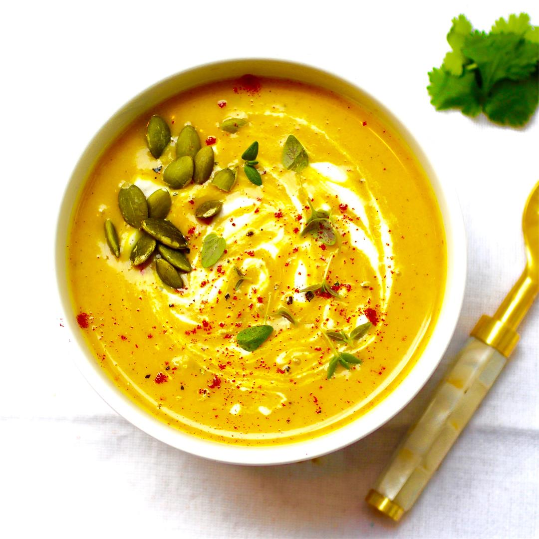 Curried Butternut Squash and Coconut Soup